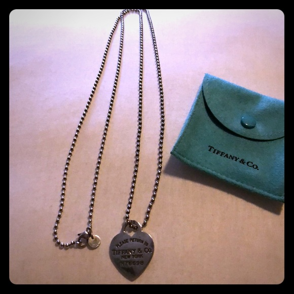bd6fd5b0b Tiffany & Co. Jewelry | Tiffany Co Double Wrap Tiffany Heart ...